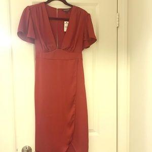 NWT Express Women's Maroon Midi Dress